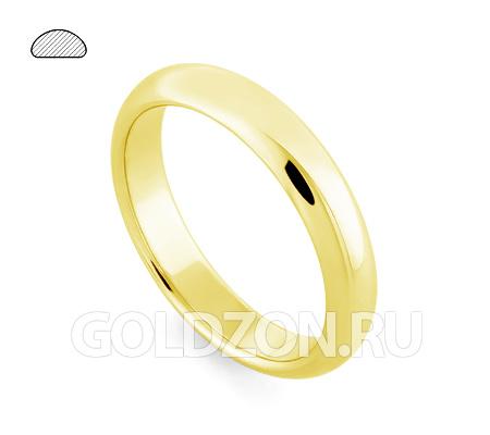 Фото«RG-W245Y»Выпуклое обручальное кольцо, желтое золото, классика