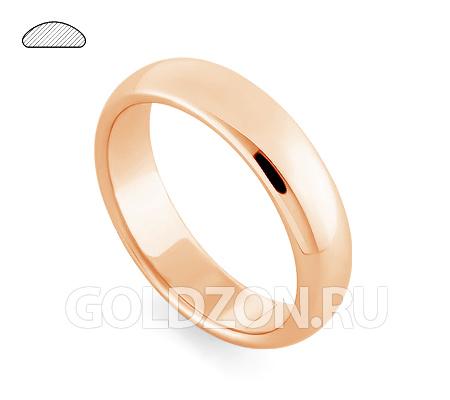 Фото«RG-W255R»Широкое класическое обручальное кольцо розовое золото
