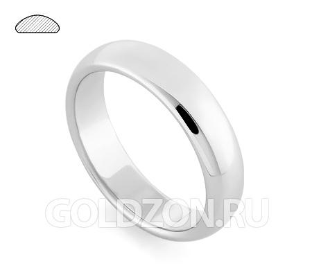 Фото«RG-W255W»Широкое класическое обручальное кольцо белое золото
