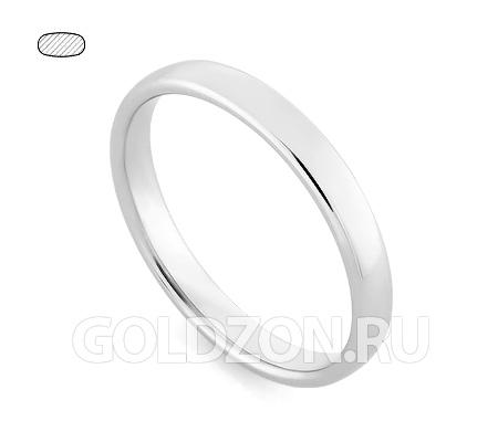 Фото«RG-W335W»Обручальное кольцо из белого золота классическое