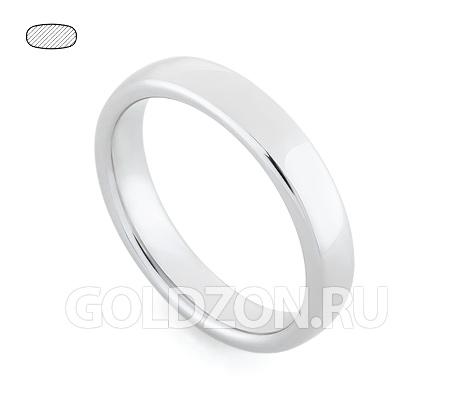 Фото«RG-W345W»Гладкое класическое обручальное кольцо белое золото