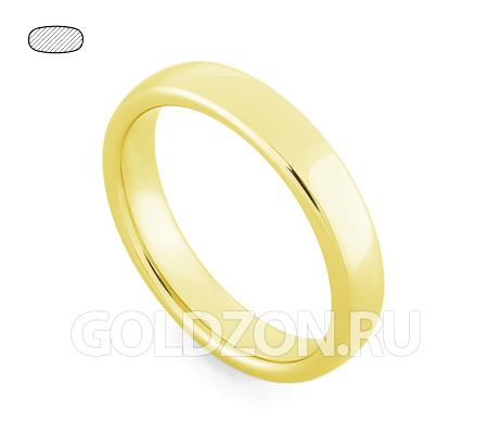 Фото«RG-W345Y»Гладкое класическое обручальное кольцо желтое золото