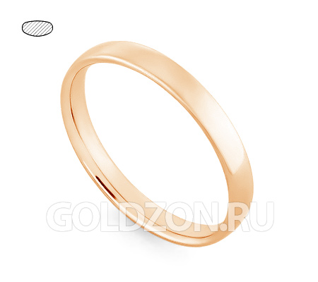 Фото«RG-W435R»Классическое обручальное кольцо из розового золота