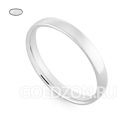Фото«RG-W435W»Классическое обручальное кольцо из белого золота