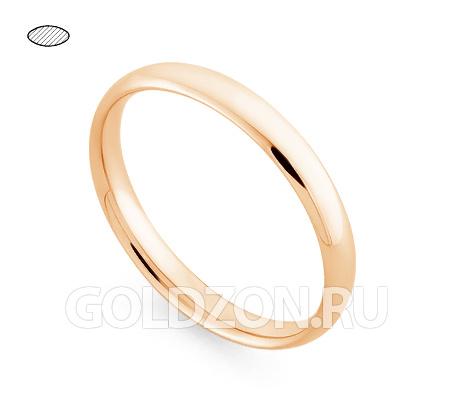 Фото«RG-W635R»Обручальное кольцо из розового золота - классика!