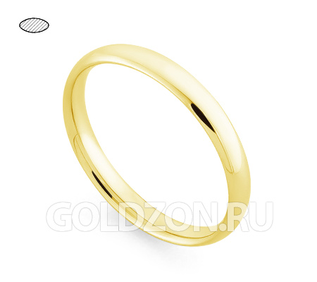 Фото«RG-W635Y»Обручальное кольцо из желтого золота - классика!