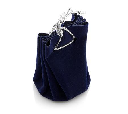 Фото«U-1359»Мешочек для ювелирных изделий синий под бархат