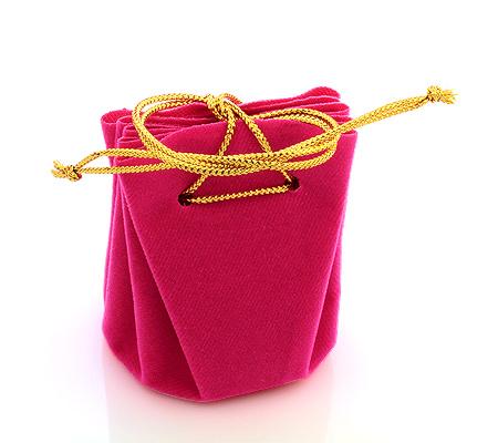 Фото«U-1421»Мешочек для ювелирных украшений алый