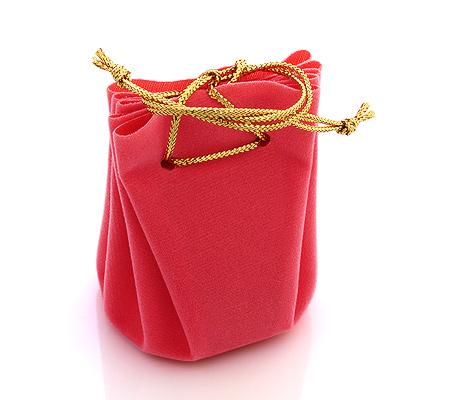 Фото«U-1422»Мешочек для ювелирных украшений розовый