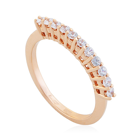 Фото«UG-2061-239»Золотое кольцо дорожка из фианитов