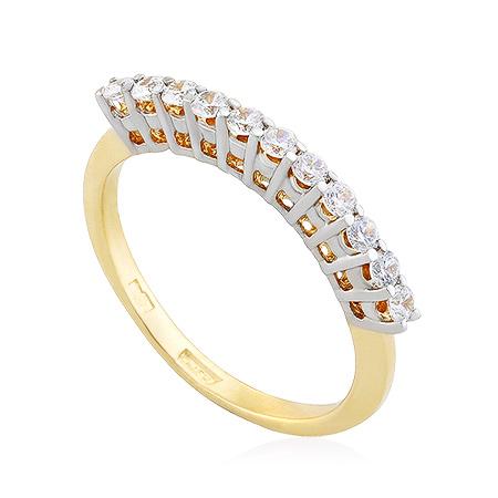 Фото«UG-2061-221»Золотое кольцо дорожка из фианитов желтое золото