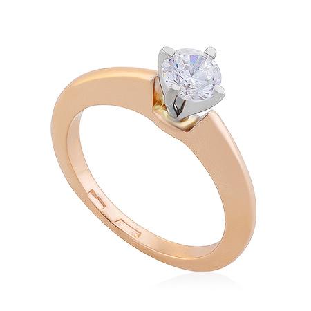 Фото«UG-2064-374»Золотое кольцо с фианитом
