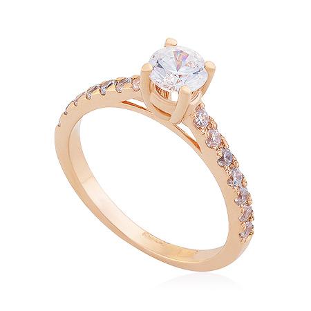 Фото«UG-2065-244»Золотое кольцо с фианитами бриллиантовая модель