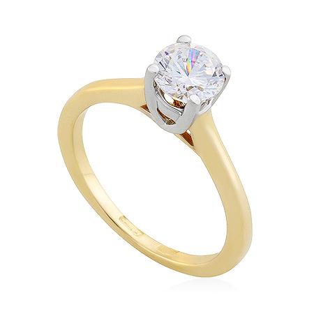 Фото«UG-2066-304»Кольцо из желтого золота с фианитом