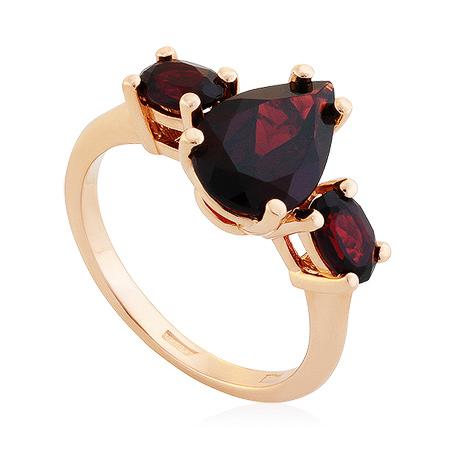 Фото«UG-2104-623»Кольцо из красного золота с гранатами