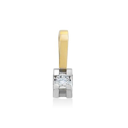 Фото«UG-4026-2-181»Золотая подвеска с фианитом из желтого золота