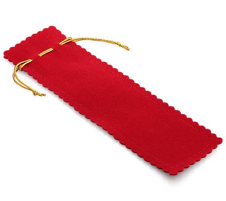 Фото«UL-1427»Мешочек для серебряных ложечек - красный