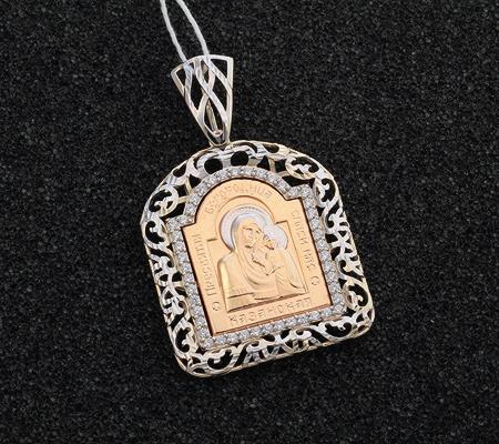 Фото«UV-0624-451»Православный образок из золота