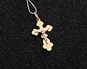 Кресты и крестики мужсике и женские; Код: UV-1012b-112; Вес: 1.12г; 3150р.