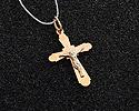 Кресты и крестики мужсике и женские; Код: UV-1019b-105; Вес: 1.05г; 2950р.