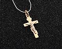 Кресты и крестики мужсике и женские; Код: UV-1040b-097; Вес: 0.97г; 2750р.