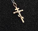Кресты и крестики мужсике и женские; Код: UV-1041b-098; Вес: 0.98г; 2750р.