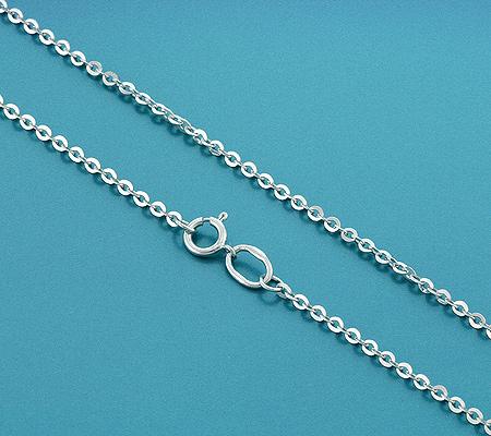 Фото«UVF-20265489»Женская цепочка из белого золота «Бельцер плоский»