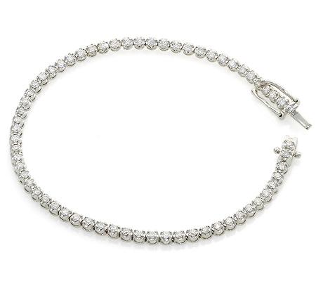Фото«UV-20279741»Классический браслет из белого золота с бриллиантами