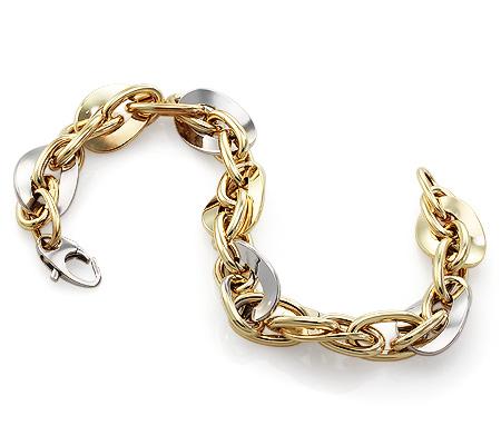 Фото«UV-20280513»Золотой браслет без камней и вставок - Италия!