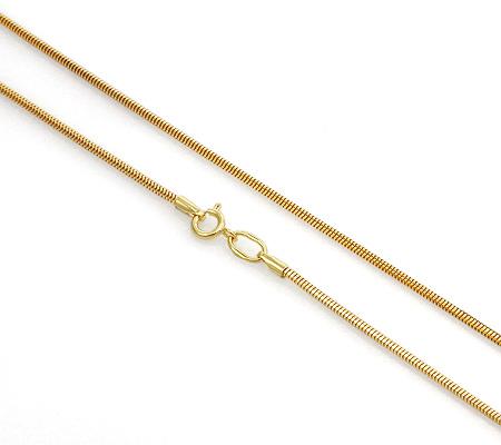 Фото«UVF-20282780»Женская цепочка из желтого золота «Корда - веревочка»