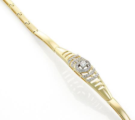 Фото«UV-20287393»Браслет из желтого золота с бриллиантами