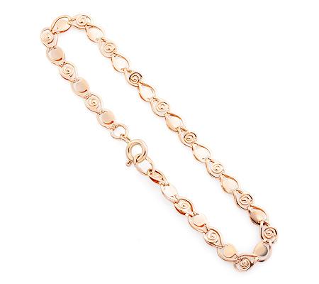Фото«UV-20332970»Золотой женский браслет из штамп. эллементов «Улитка»