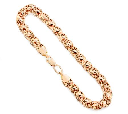 Фото«UV-20333231»Золотой цепочный женский браслет  «Нона + Черепашки»