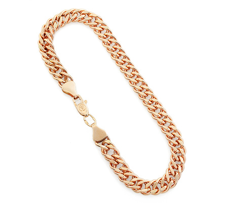 Фото«UV-20333637»Цепочный мужской браслет из золота. Плетение «Ромб»