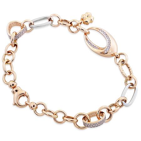 Фото«UV-20340643»Золотой женский браслет на руку с фианитами