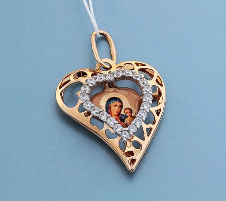 Фото«UV-3594»Православный образок из золота