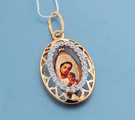 Фото«UV-3596»Православный образок из золота