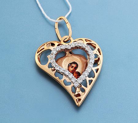 Фото«UV-3599»Православный образок из золота