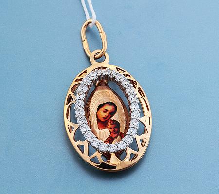 Фото«UV-3601»Православный образок из золота