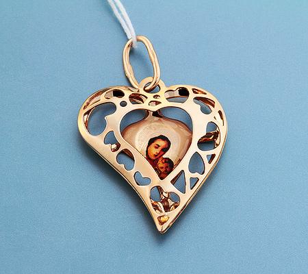 Фото«UV-3605»Православный образок из золота