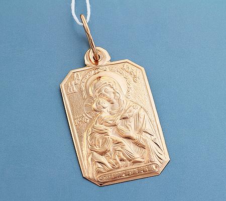 Фото«UV-3610»Православный образок из золота