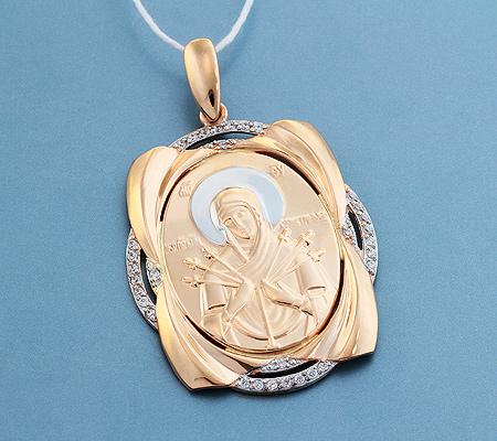 Фото«UV-3612»Православный образок из золота