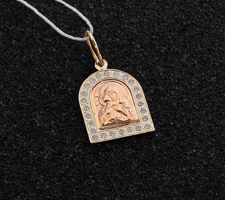 Фото«UV-7512122-173»Образ Божией Матери «Феодоровская» из золота