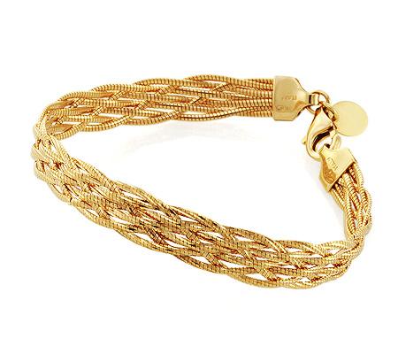 Фото«UV-20256702»Женский итальянский браслет из золота плетеный