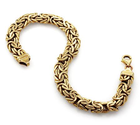 Фото«UV-20268921»Толстый браслет из желтого золота