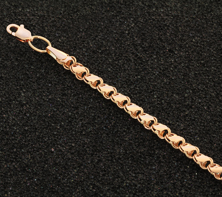 Фото«UVL-ER299»Женский браслет «Черепашки» из красного золота