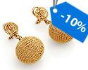 Серьги без камней и вставок; Код: UVi-20281323; Вес: 12.17г; 0р.