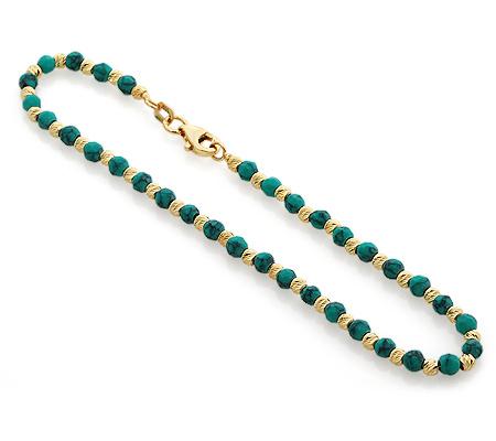 Фото«UVi-20289402»Женский золотой браслет с бирюзой - Италия