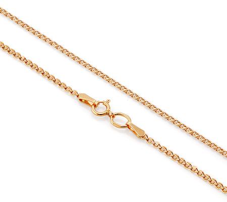 Фото«VGL-4722»Женская золотая цепочка плетение «Лав» легкая