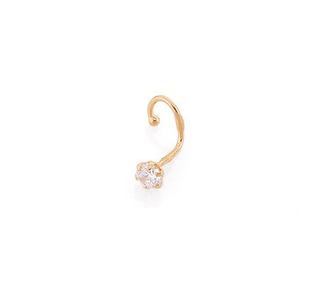 Фото«GZ-6551»Золотой пирсинг в нос с фианитом
